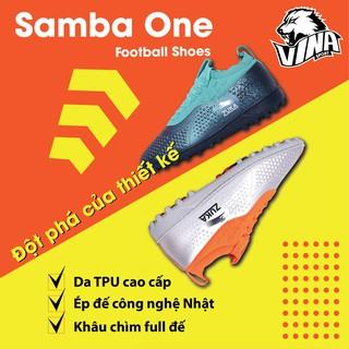 Giày Đá bóng Mẫu ZUKA SAMBA ONE 2020 | Đế cao su Khâu Full + TẶNG Túi rút | Vina Sport