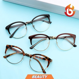 BEAUTY Fashion Retro Spectacles Frames Computer Eyeglasses Optical Glasses Men Women Clear Lens Anti-fatigue Vintage Eyewear/Multicolor
