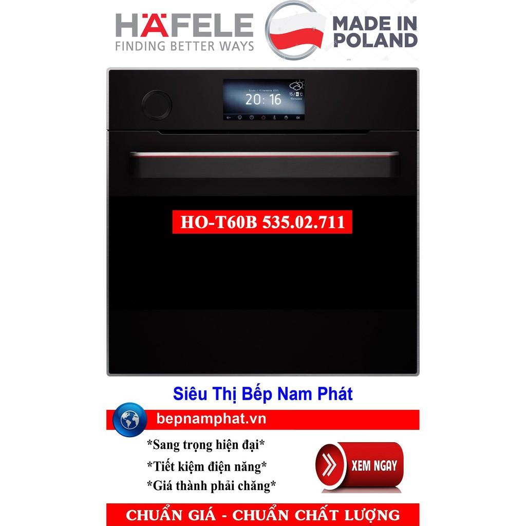 Lò nướng kết hợp hấp lắp âm tủ cao cấp Hafele HO-T60B 535.02.711 nhập khẩu Ba Lan