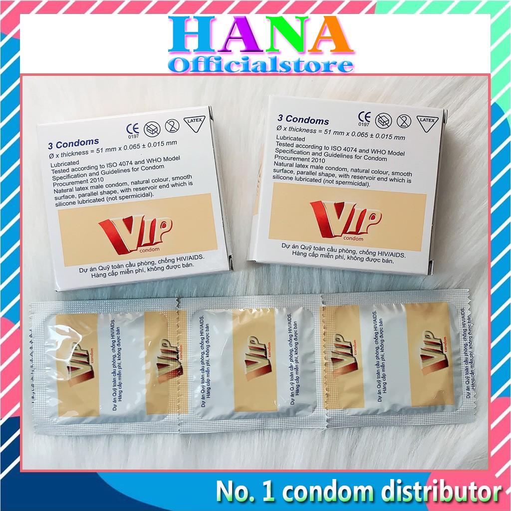 Bao cao su Vip ❤️FREESHIP❤️ sản phẩm kế hoạch hóa gia đình [1 hộp 3 chiếc]