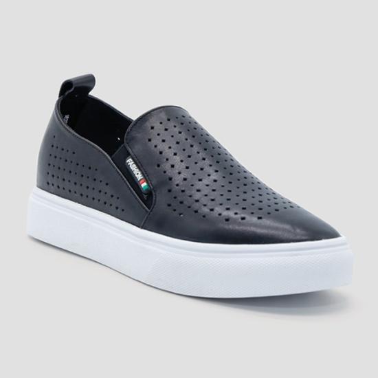Giày lười nữ Aokang màu đen 182332202