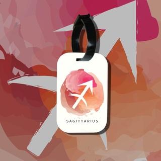 Travel tag cho túi xách balo du lịch in hình Cung hoàng đạo Sagittarius Nhân Mã thumbnail