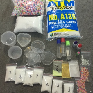 Combo nguyên liệu slime (chi tiết xem ở mô tả bên dưới)