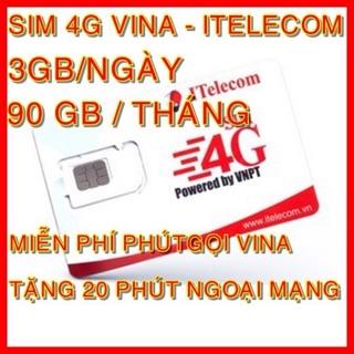 [Mã ELDEC10K giảm 10K đơn 20K] Sim 3G 4G Itelecom MAY gói 90GB tháng+ Miễn phí gọi Vinaphone + 30phút gọi ngoại mạng thumbnail