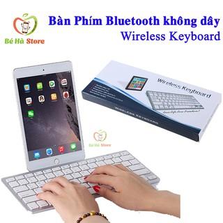 Bàn Phím Bluetooth Không dây Wireless keyboard Cho Điện Thoại, Máy Tính Bảng - Bàn Phím Không Dây kết nối bluetooth thumbnail