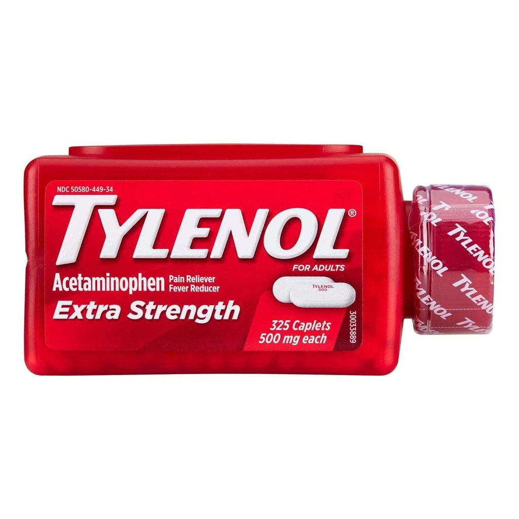 [Hàng Mỹ] Viên uống 𝙏YLE𝙉OL 500mg 325 viên  giảm đau hạ sốt Tylenol Extra Strength