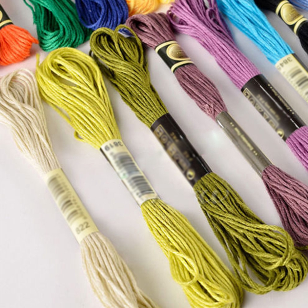 50Pcs Cotton Cord Thread Embroidery Hand DIY Sewing Cross Stitch Crochet Threads