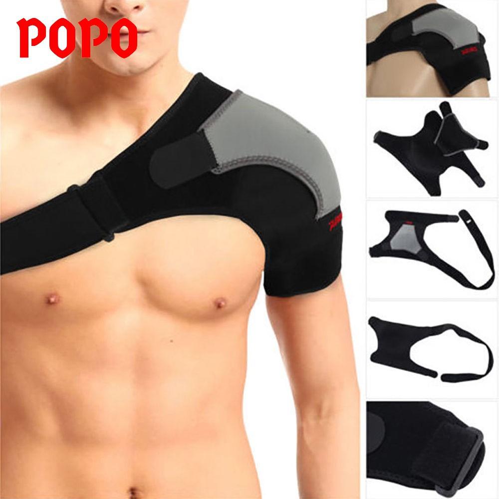 Băng bó vai, bảo vệ khớp vai tránh chấn thương (VAI TRÁI), thoát mồ hôi, mềm mại POPO Sport