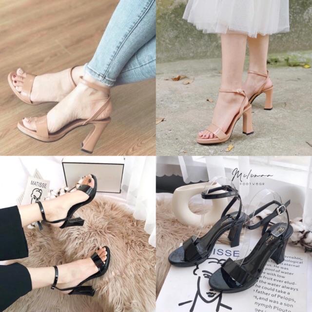 Giày sandal cao gót đúp 10cm