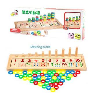 Đồ chơi gỗ-Bộ tập đếm đọc số