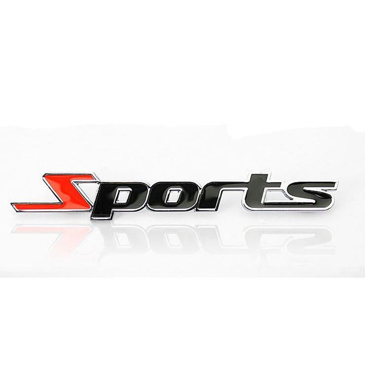 Decal sports kim loại thể thao