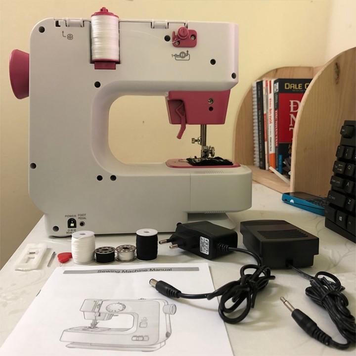 Máy may mini Sakura, máy khâu gia đình với 12 kiểu máy khác nhau, phù hợp với mọi loại vải  [Bảo Hành 12 Tháng]
