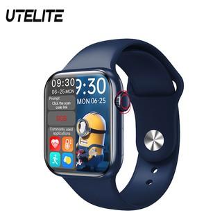Đồng hồ thông minh UTELITE Hw12/ Hw16 Iwo chính hãng dòng 6 toàn màn hình 3D Ui 1.5 inch gọi Bluetooth âm truyền spo2