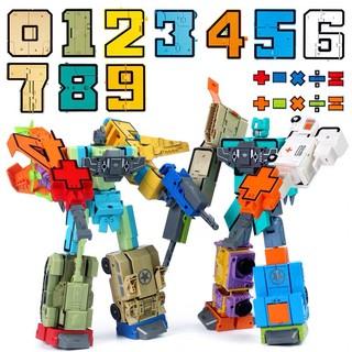 Nhiều mẫu Lắp ráp sáng tạo Chữ số & chữ cái biến hình Robot ✨✨ Number robots , Alpha Bot