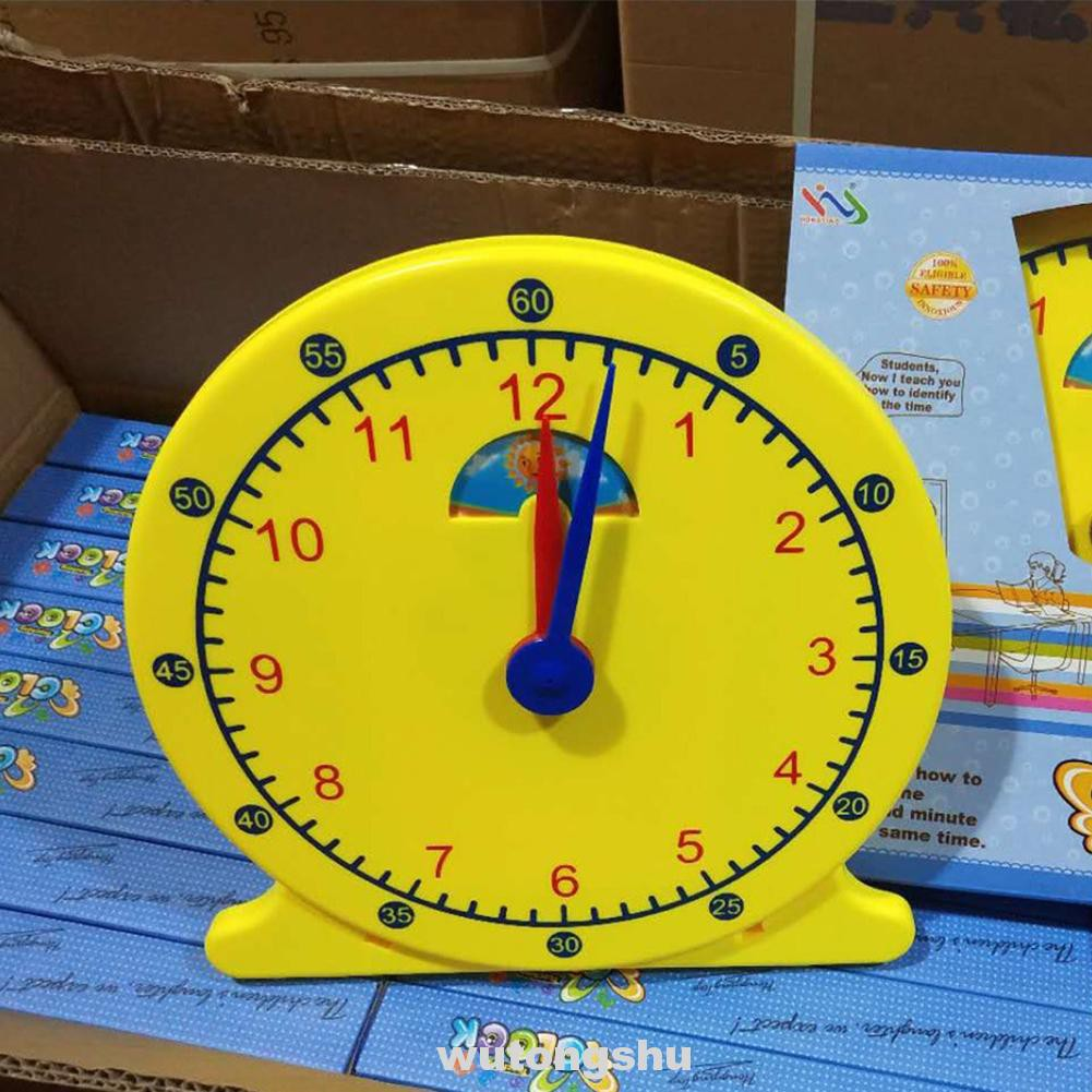 12 Inch Digital Smooth With Stand Learning Tool Classroom Demonstration Night And Day Adjustable Time Teaching Clock