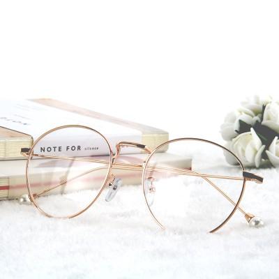 Mắt kính gọng tròn cỡ nhỏ kiểu retro Hàn Quốc xinh xắn cho sinh viên