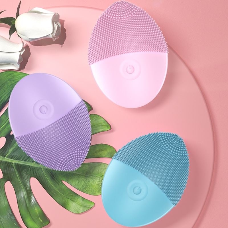 Silicone Face Cleansing Brush Electric Face Cleanser Electric Facial Cleanser Cleansing Skin Deep Washing Massage Brush #GH-68