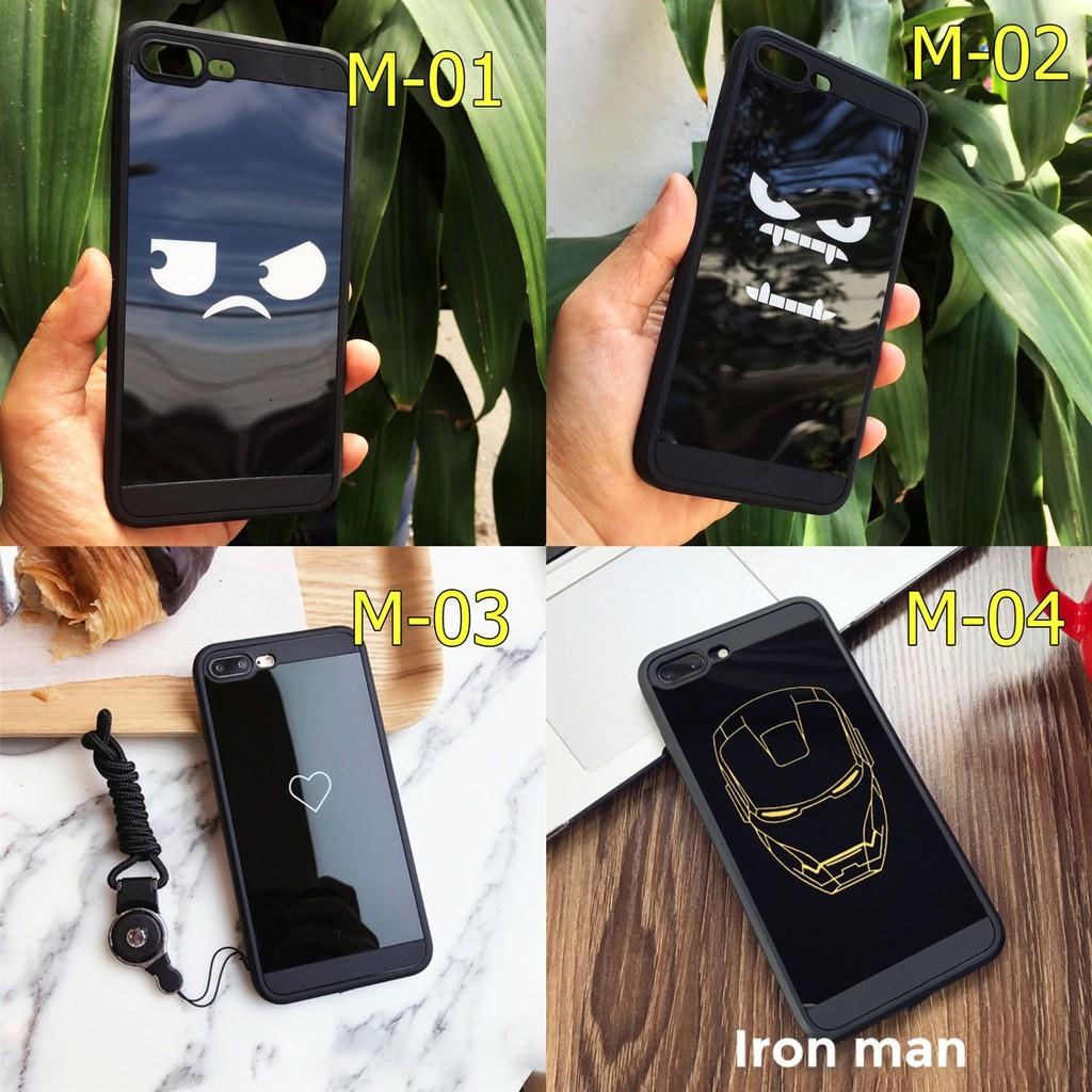 Ốp dẻo đen bóng gương in hình cho iPhone 7 Plus / iPhone 8 Plus
