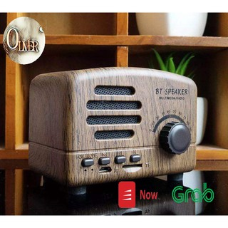 Loa Bluetooth Mini Cổ Điển BT01 Vân Gỗ Phong Cách Retro Vintage