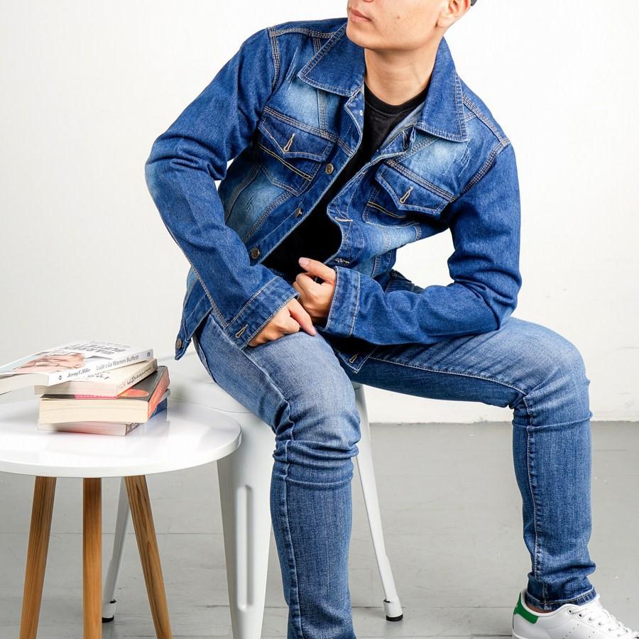 Áo khoác jean nam MĐ A1 (Xanh) - Mới về - Áo khoác jeans