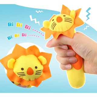 1Pcs Animals Baby Rattles Soft Plush Toys Handing Mobiles BB Sounder Ringbell