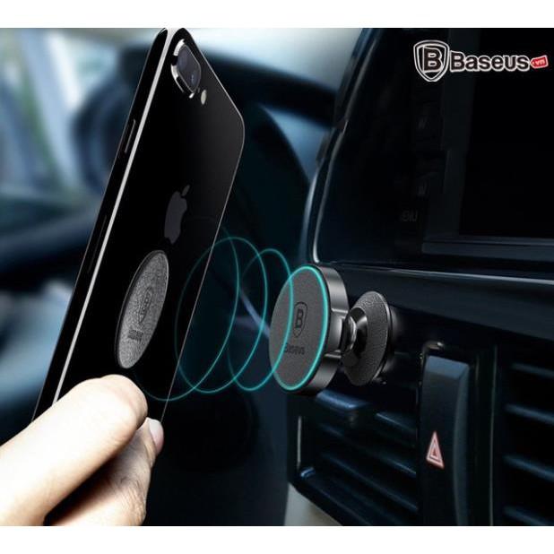 [Mã ELFLASH5 giảm 20K đơn 50K] Đế giữ điện thoại Nam Châm Baseus 360 -Magnetic Air Vent Car Mount-BH 6 THÁNG