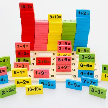 Bộ domino học toán 110 chi tiết