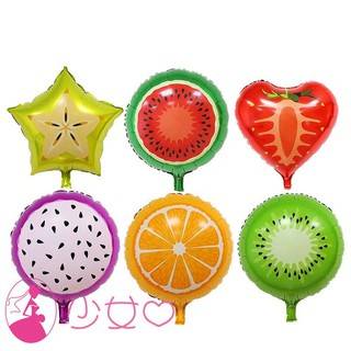 New 18-inch fruit aluminum balloon Balloon watermelon orange strawberry orange balloon balloon