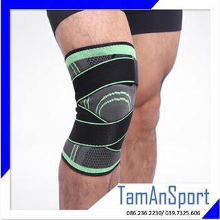 Bó gối bóng đá, thể thao gym PJ Support 912 có dây cuốn tránh chấn thương đầu gối, dây chằng