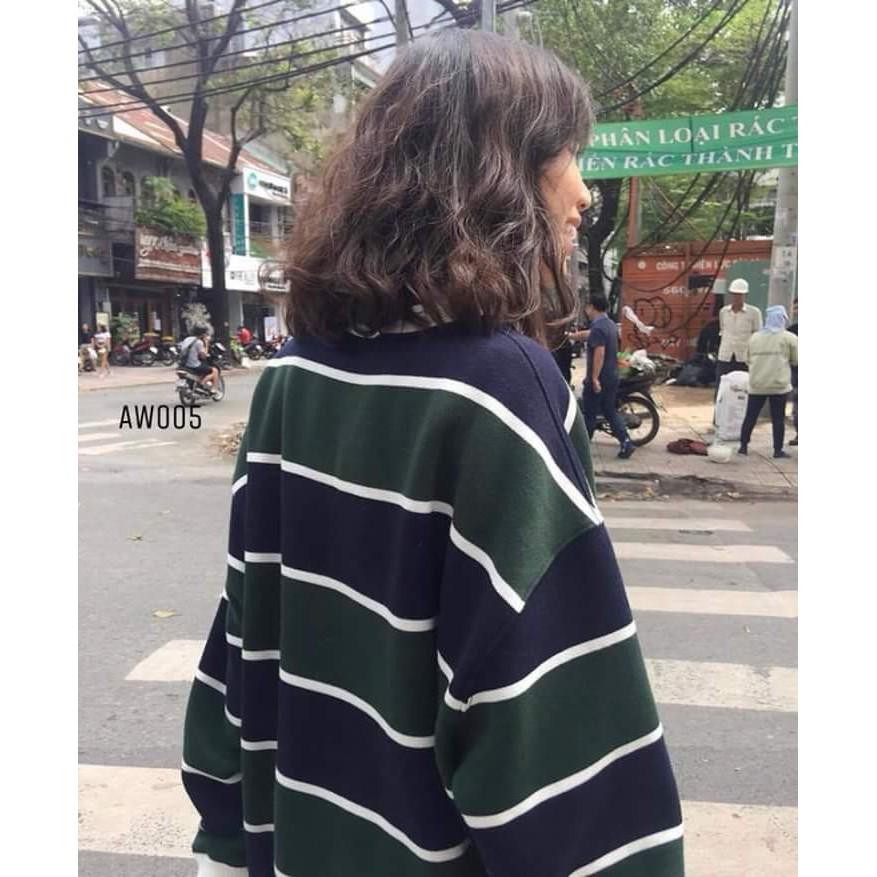 [Kèm hình thật] Sweater áo tay dài sọc ngang xanh đen unisex - 2922746 , 1158698937 , 322_1158698937 , 115000 , Kem-hinh-that-Sweater-ao-tay-dai-soc-ngang-xanh-den-unisex-322_1158698937 , shopee.vn , [Kèm hình thật] Sweater áo tay dài sọc ngang xanh đen unisex