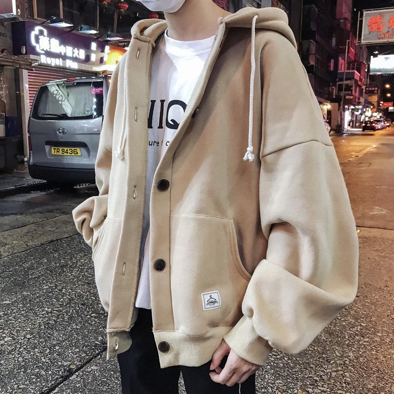 áo khoác hoodie nhung phong cách retro cho nam