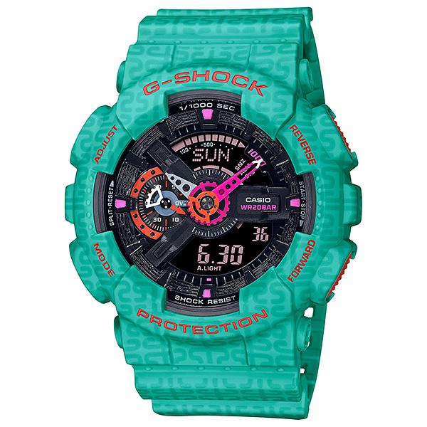 Đồng hồ Nam Dây Nhựa Casio G-Shock GA-110SGG-3ADR chính hãng bảo hành 5 năm Pin trọn đời