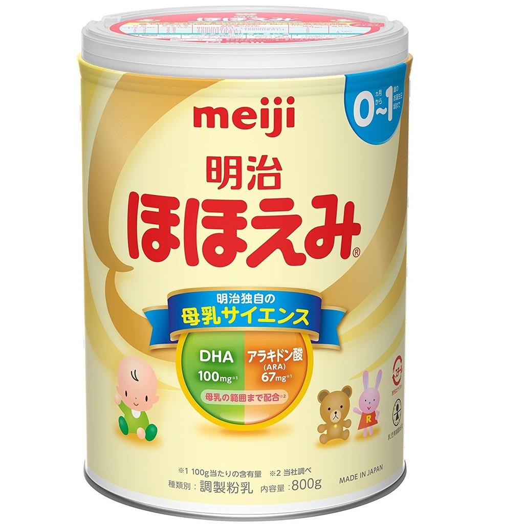 Sữa Meiji lon 800g số 0-1 Nội địa Nhật Bản